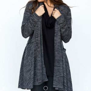 Agnes & Dora Casade Cardigan Dark Gray Sweater